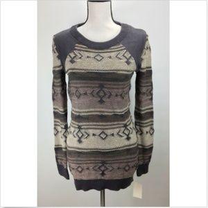 Abound Pullover Tunic Sweater Junior Size M Raglan